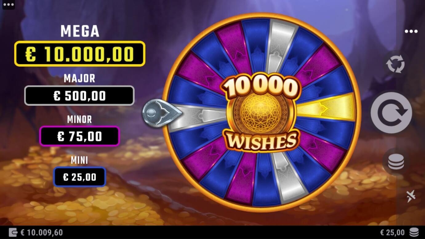 10,000 Wishes Slot Bonus Wheel