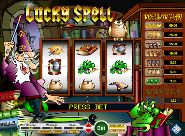 Lucky spell gameplay