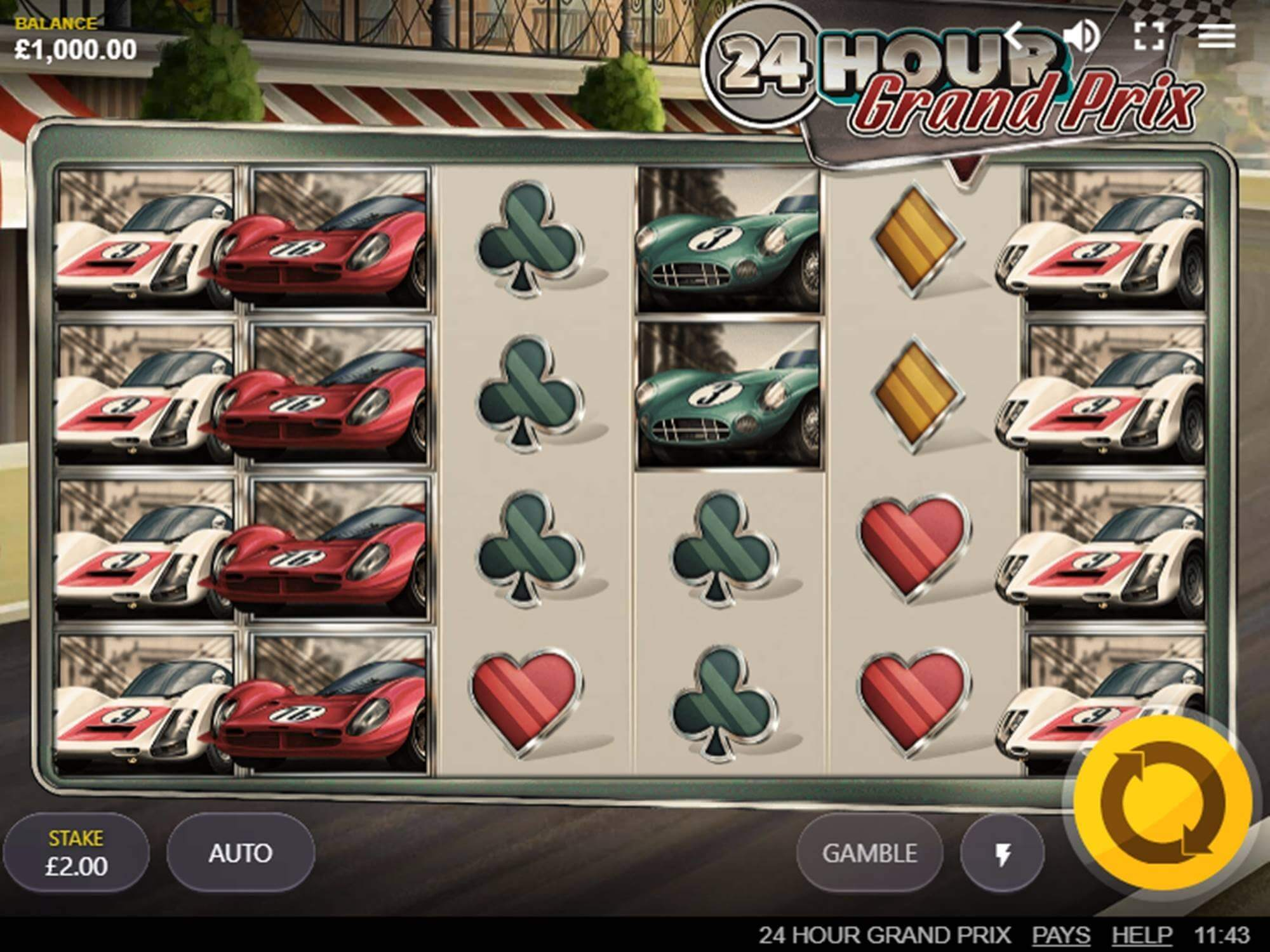 24 Hour Grand Prix Slot Gameplay