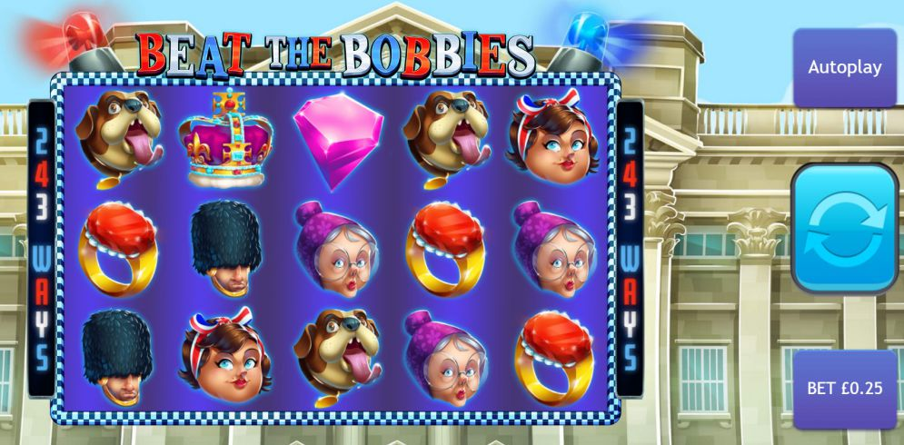 Beat the Bobbies slots game gameplay