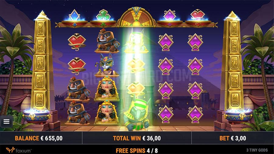 3 Tiny Gods Slot Gameplay