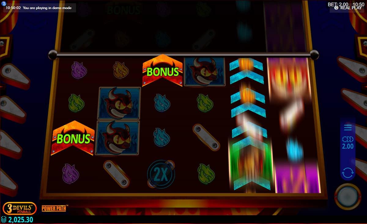 3 Devils Pinball Slots Reels