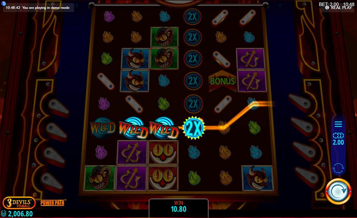 3 Devils Pinball Slot Gameplay