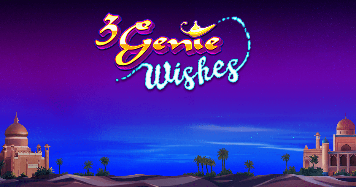 3 genie wishes slots game logo