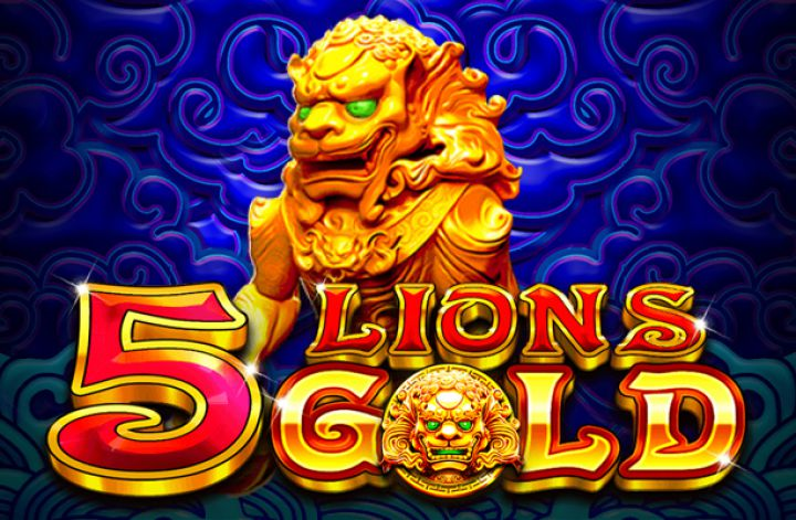 5 Lion's Gold Slot Logo