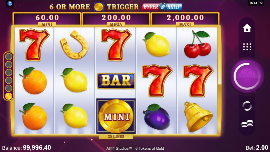 6 Tokens of Gold Slot Gameplay