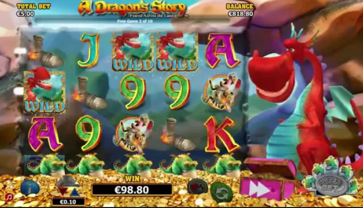 A Dragon's Story Slots Game Gameplay