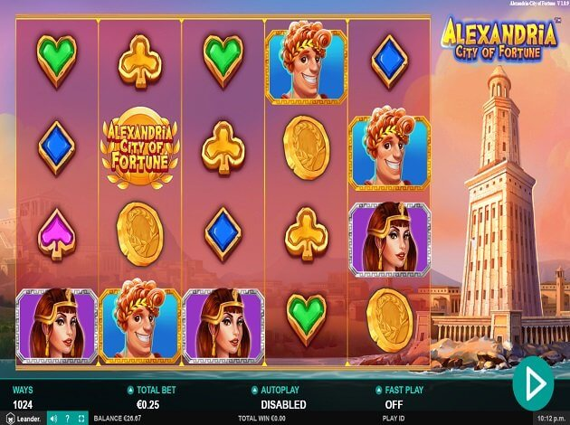 Alexandria City of Fortune Slot Bonus