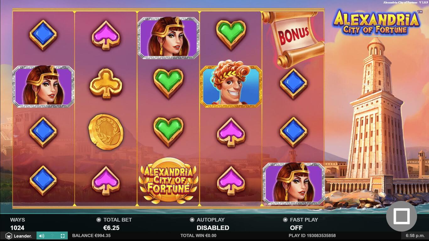 Alexandria City of Fortune Slot Gameplay