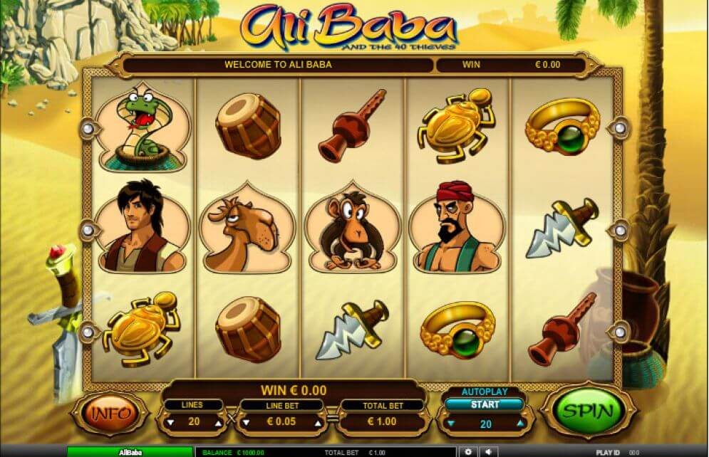 Ali Baba Slot Gameplay