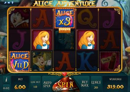 Alice Adventure Slots Game gameplay