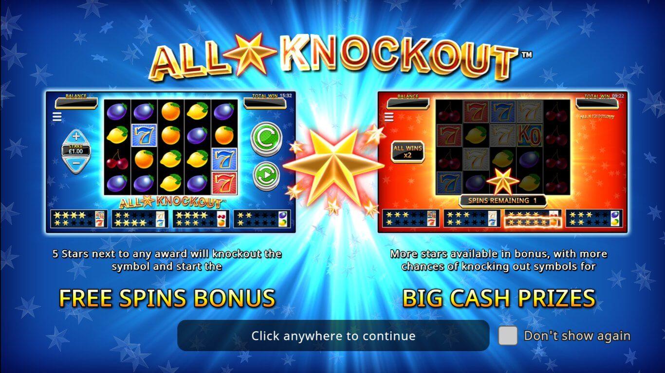 All Star Knockout Slot Bonus