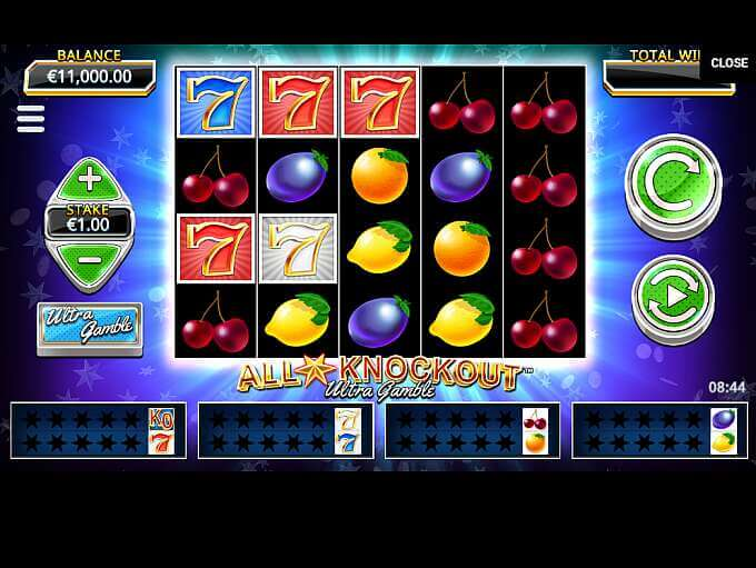 All Star Knockout Ultra Gamble Slot Bonus