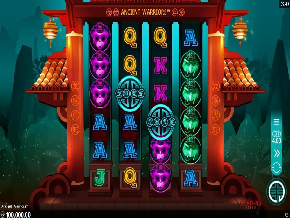 Ancient Warriors Slot Bonus