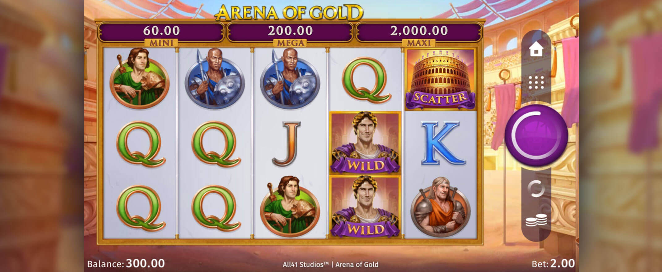 Arena of Gold Slot Gameplay
