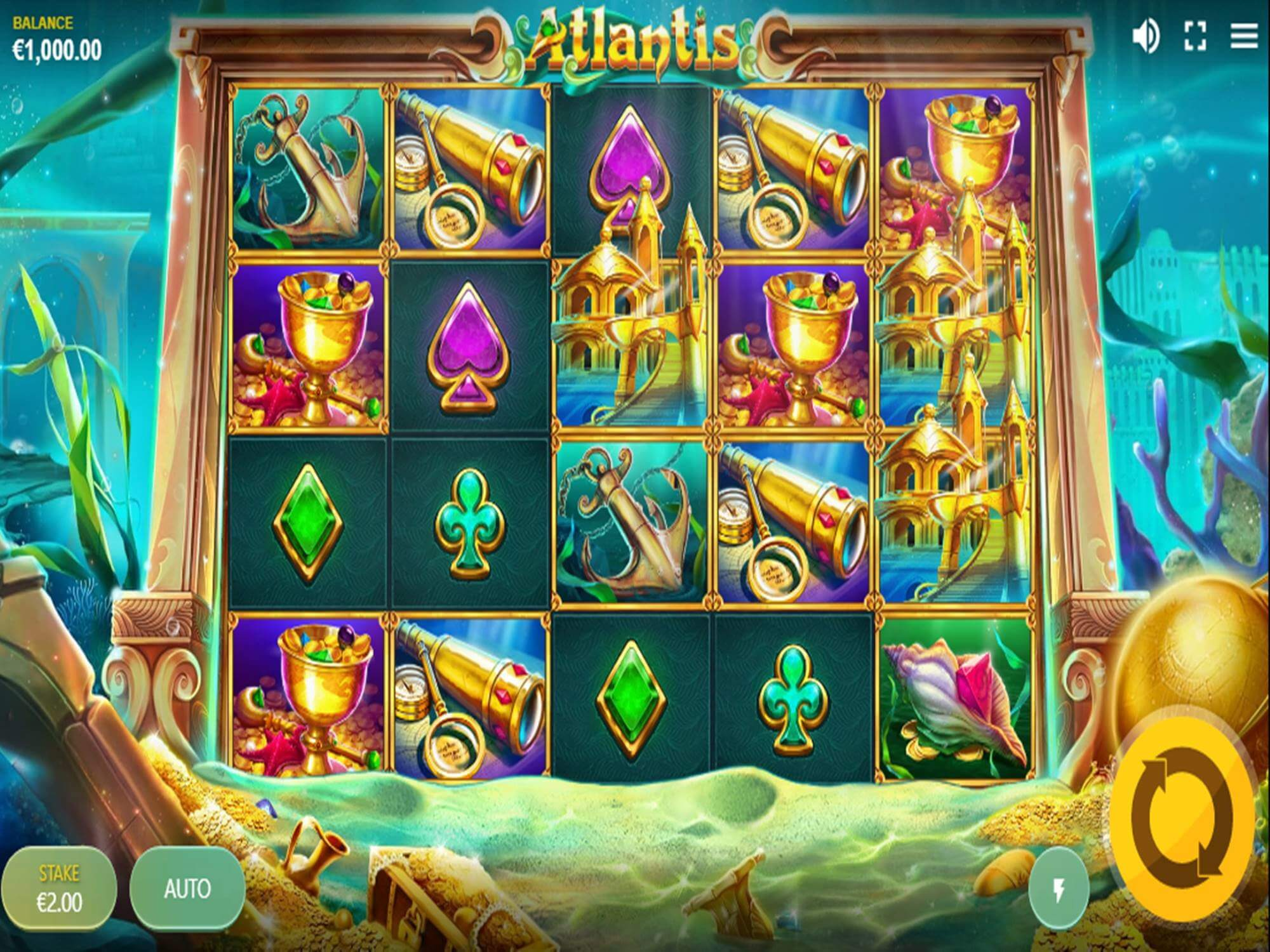 Atlantis Slot Bonus