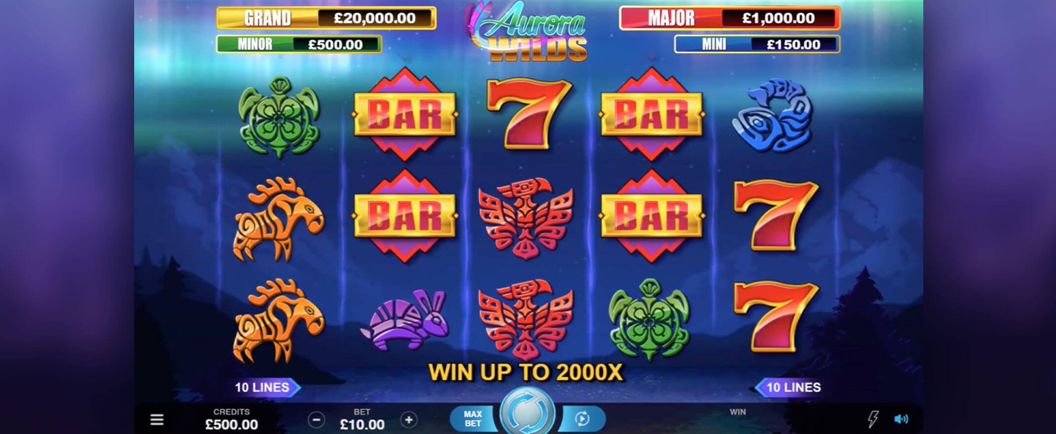 Aurora Wilds Game play Slot Image