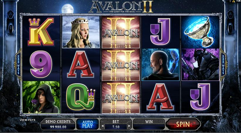 Avalon II Online Slots Gameplay