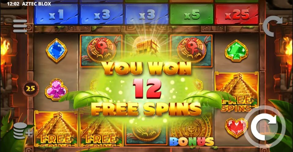 Aztec Blox Slot Bonus