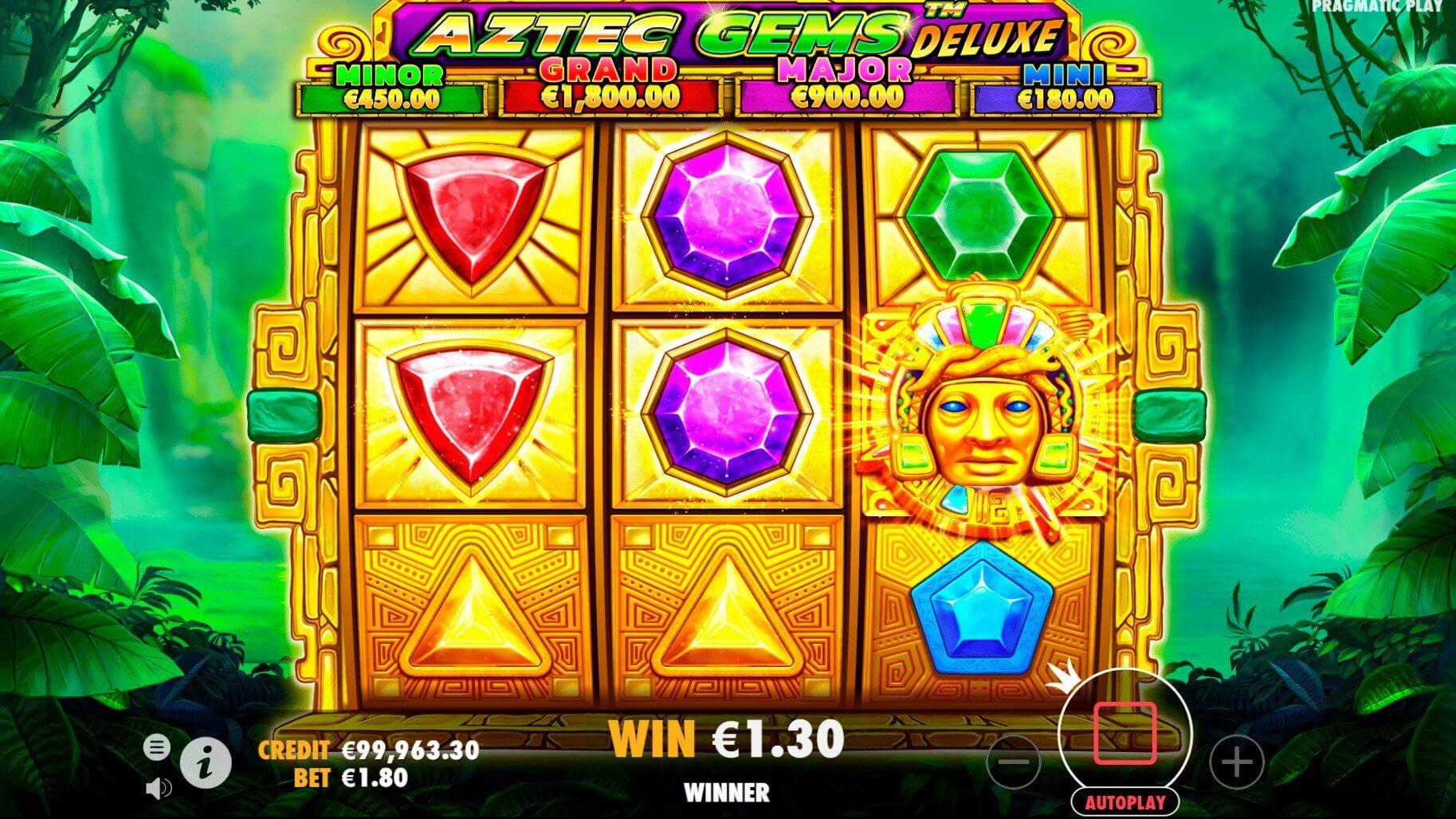 Aztec Gems Deluxe Slot Gameplay