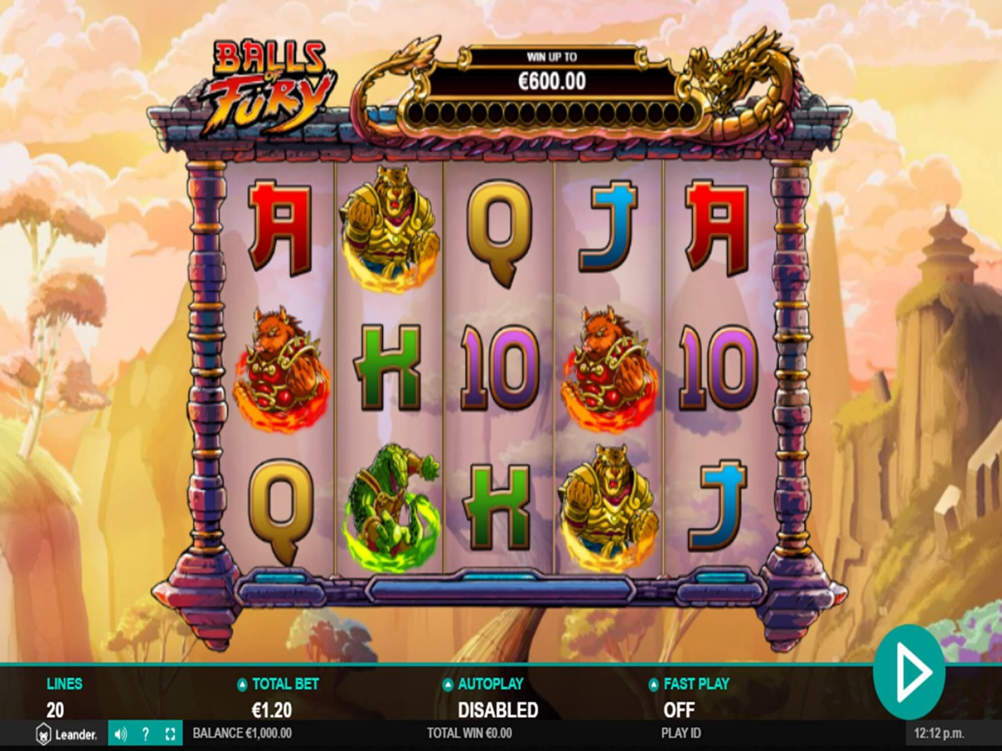 Balls of Fury Slot Bonus