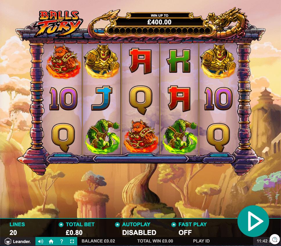 Balls of Fury Slot Gameplay