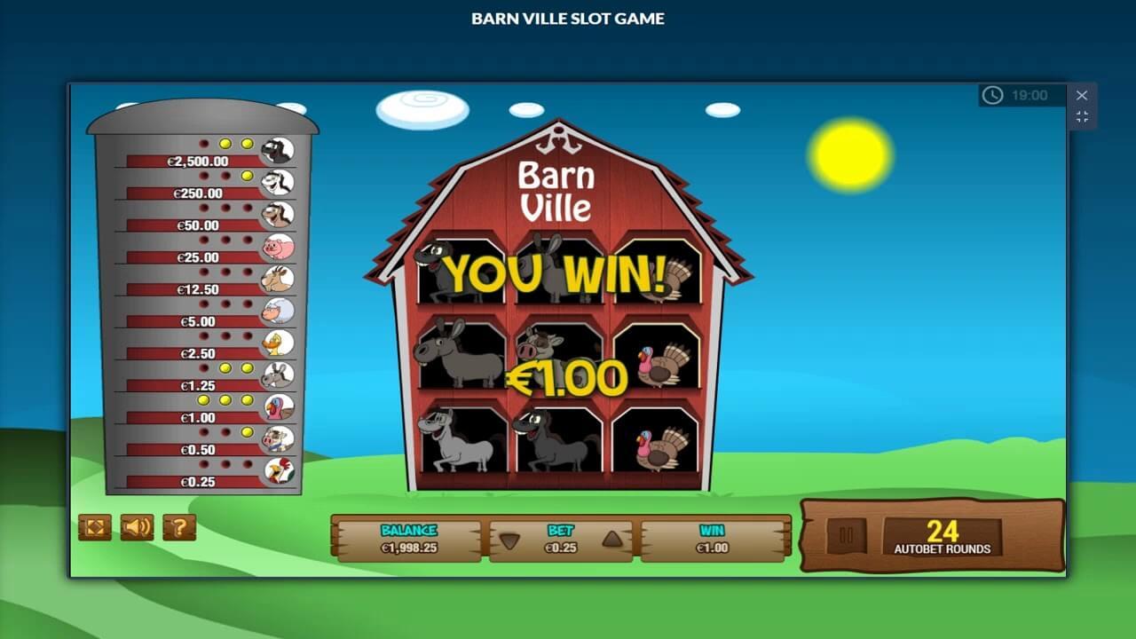 Barn Ville Slot Gameplay
