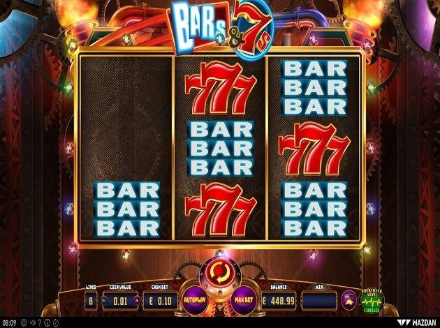 Bars and 7s Slot Bonus