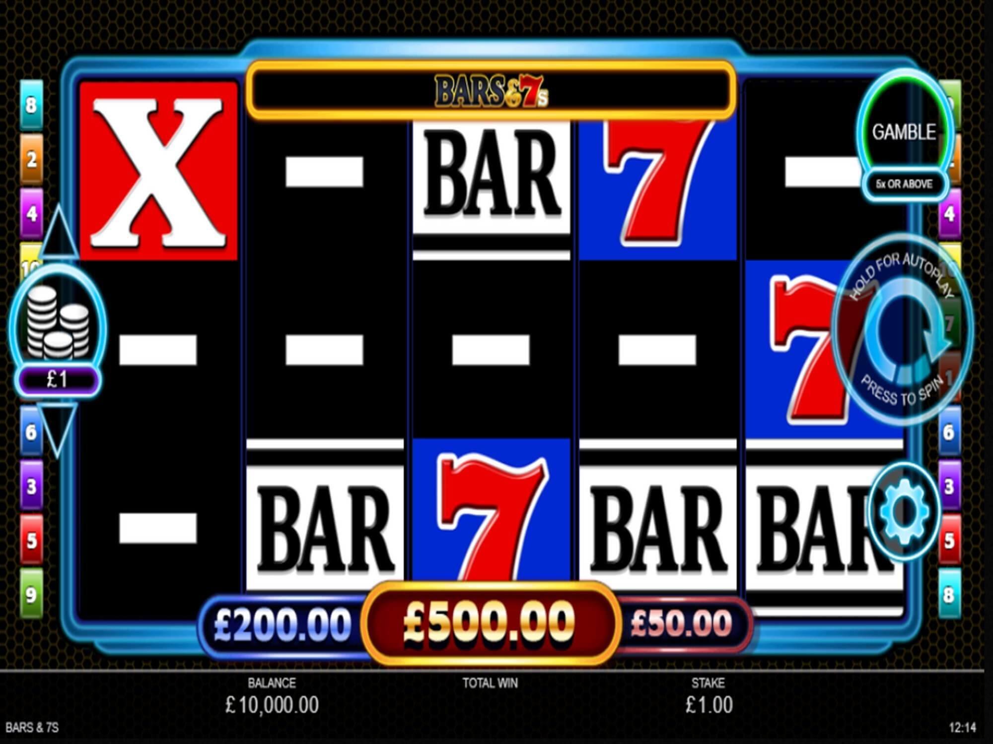 Bars and 7s Slot Gameplay