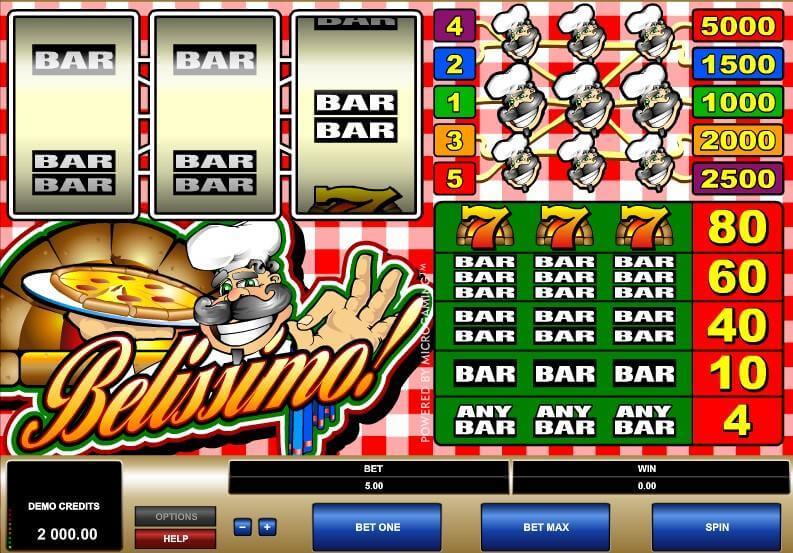 Belissimo Slot Bonus