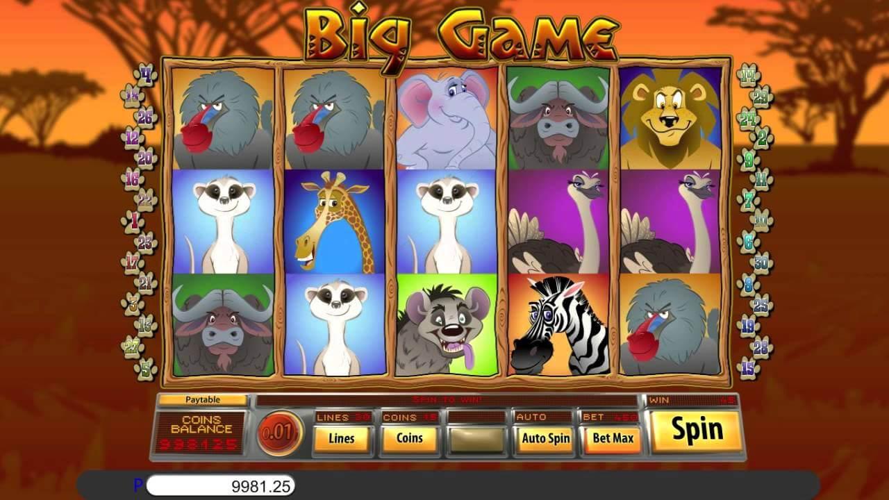 Big Game Slot Gameplay