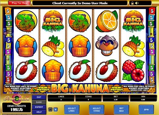 Big Kahuna Slot Gameplay
