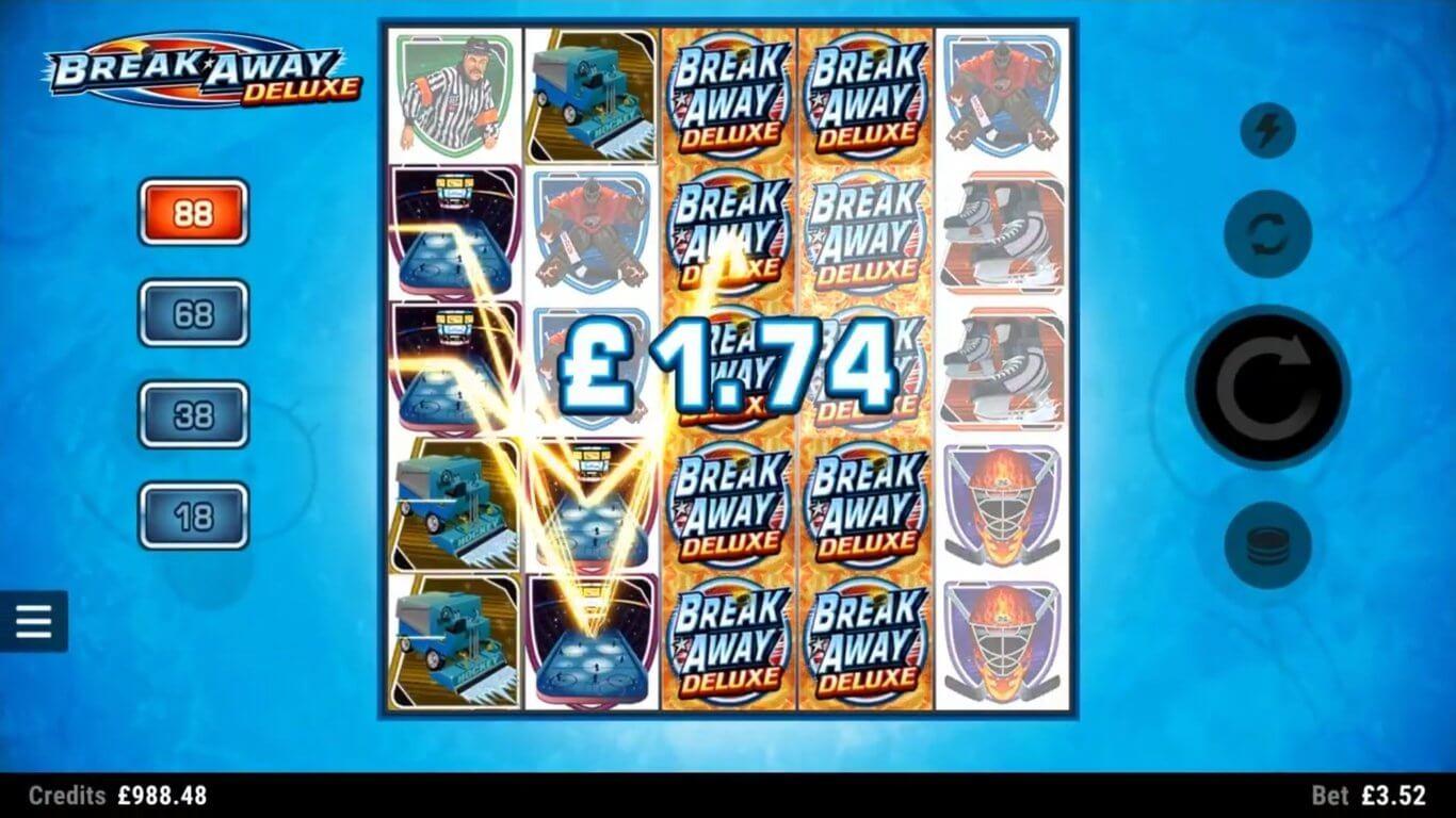 Break Away Deluxe Slot Bonus