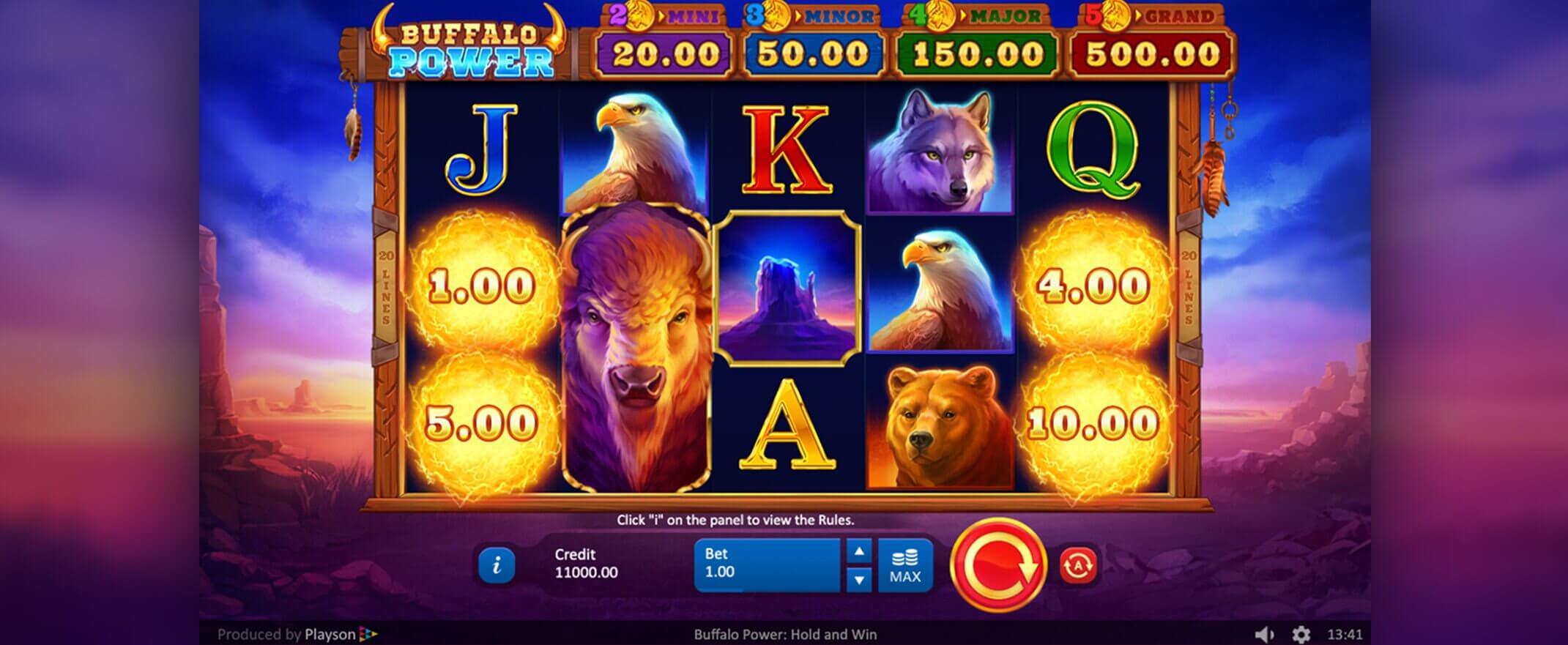 Buffalo Power Hold and Win Slot Gameplay