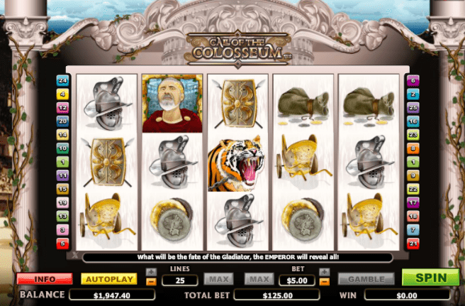 Call of the Colosseum Slots Game gameplay