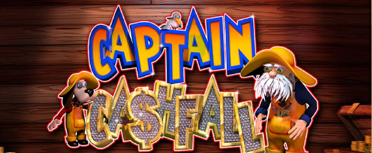 captain cashfall slots game logo