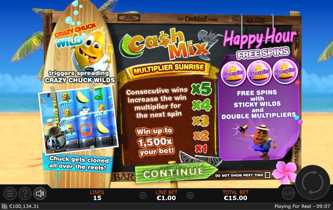 Cash Mix Slot Bonus