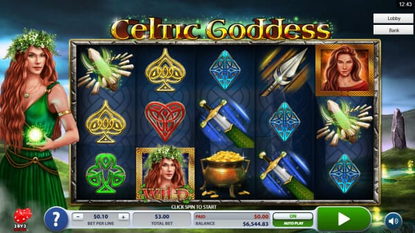 Celtic Goddess Slot Gameplay