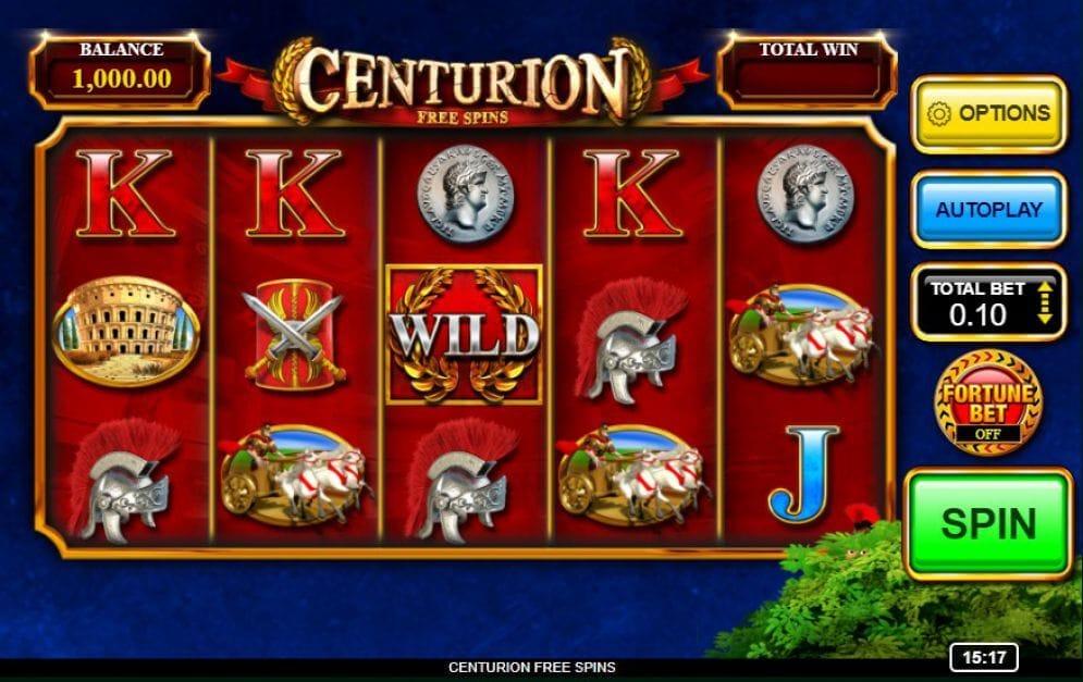 Centurion Free Spins Slot Gameplay