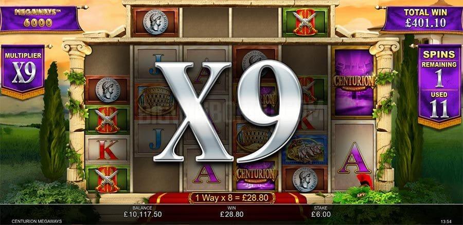 Centurion Megaways Slot Bonus