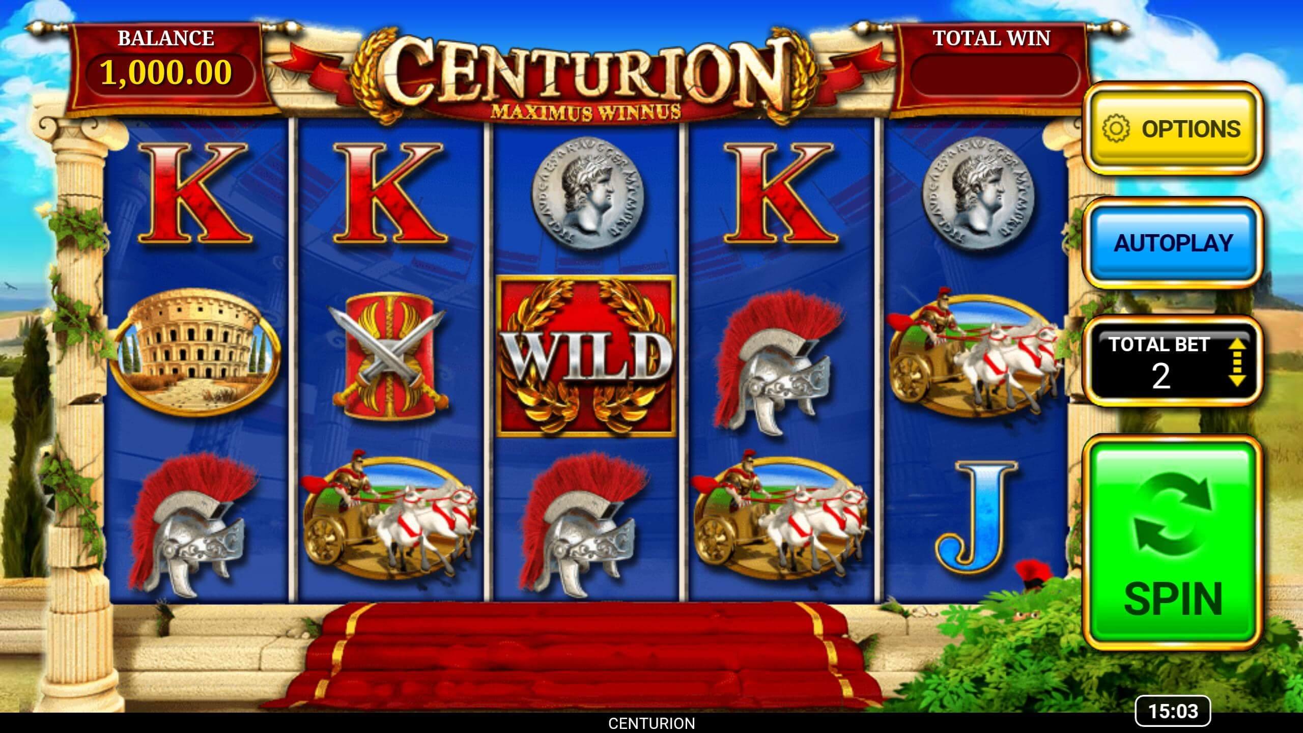 Centurion Slot Gameplay