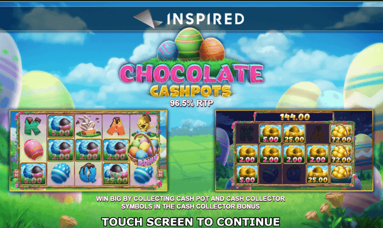 Chocolate Cash Pots Slot Bonus