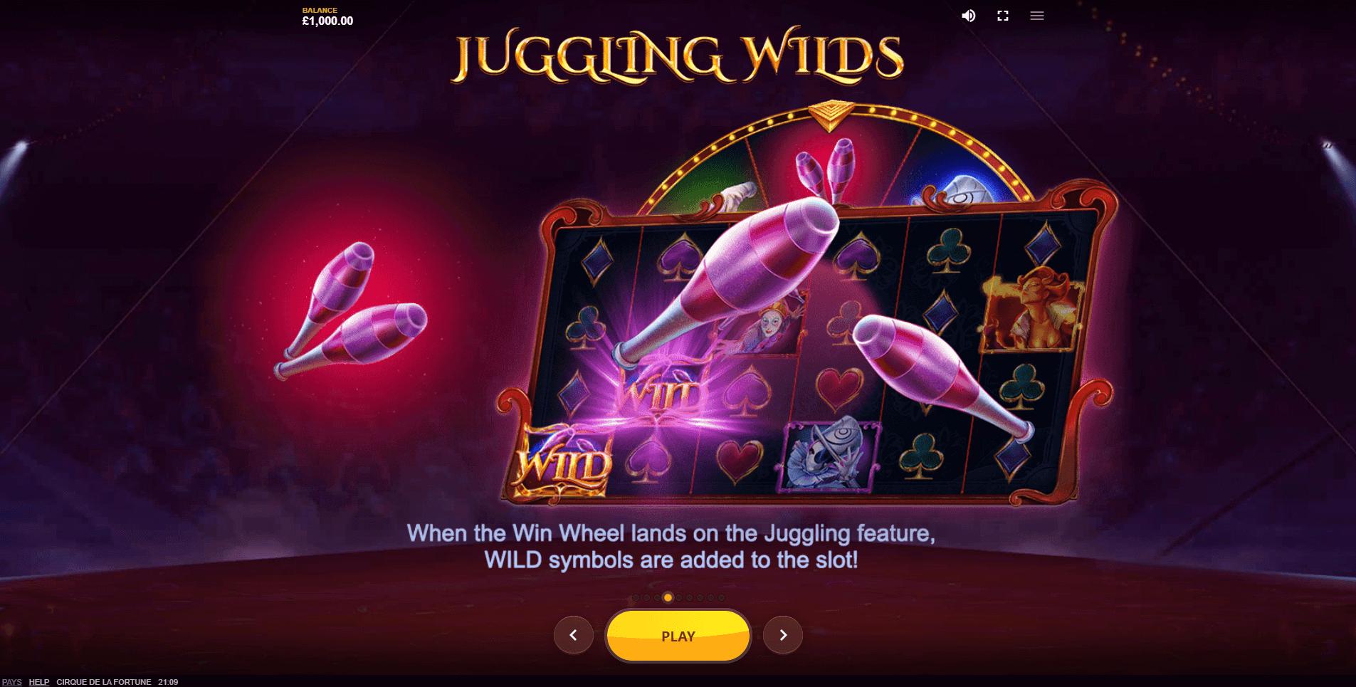 Cirque de la Fortune Slot Bonus