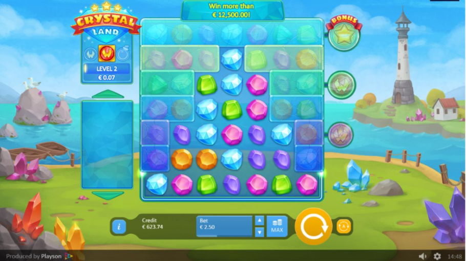 Crystal Land Slots Game gameplay