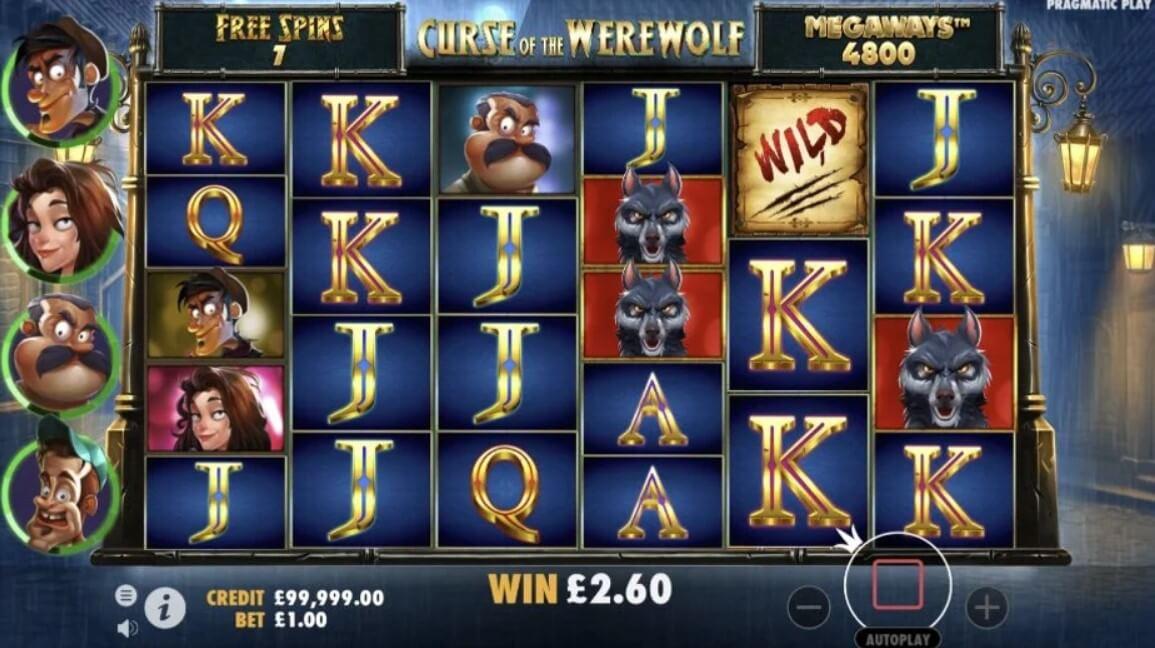Curse of the Werewolf Megaways Slot Bonus