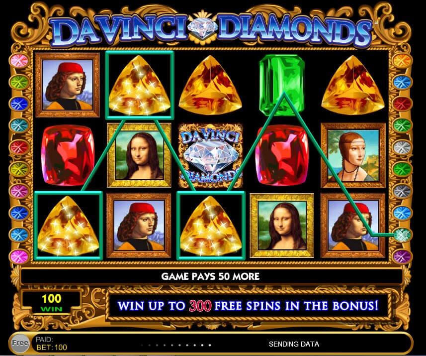 Da Vinci Diamonds Slot Bonus