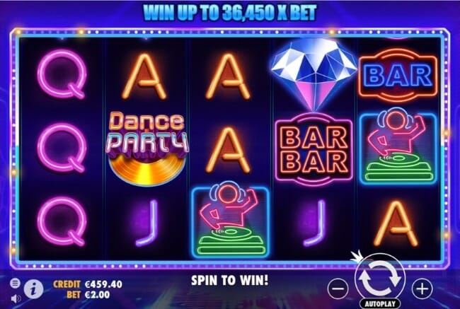Dance Party Slot Gameplay