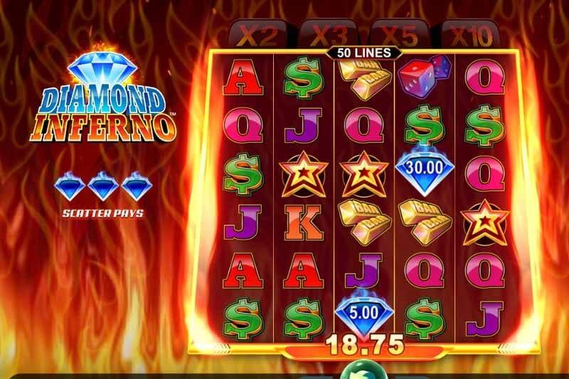 Diamond Inferno Slot Bonus