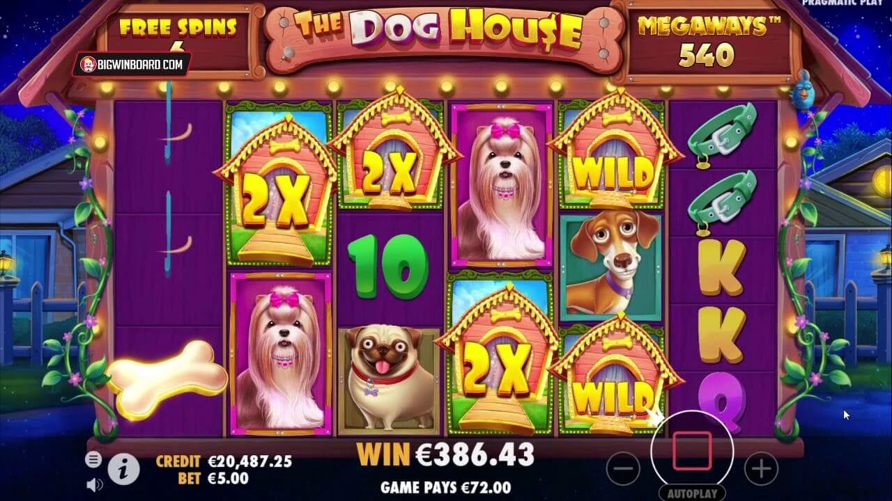 Dog House Megaways Slot Gameplay