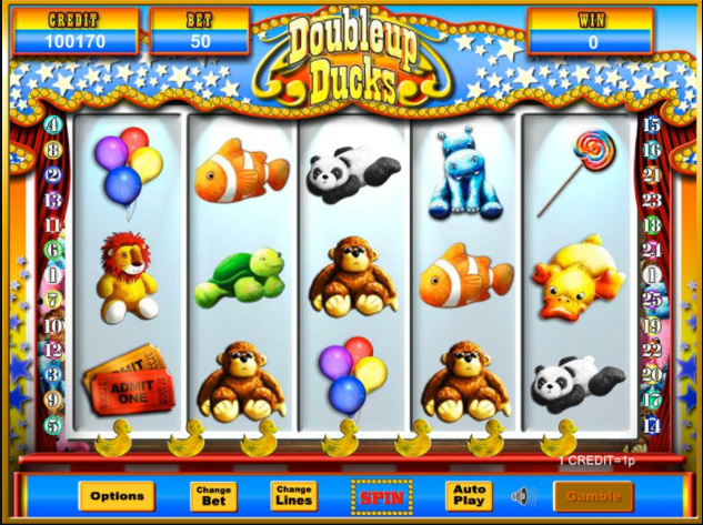 Doubleup Ducks Slots Game gameplay